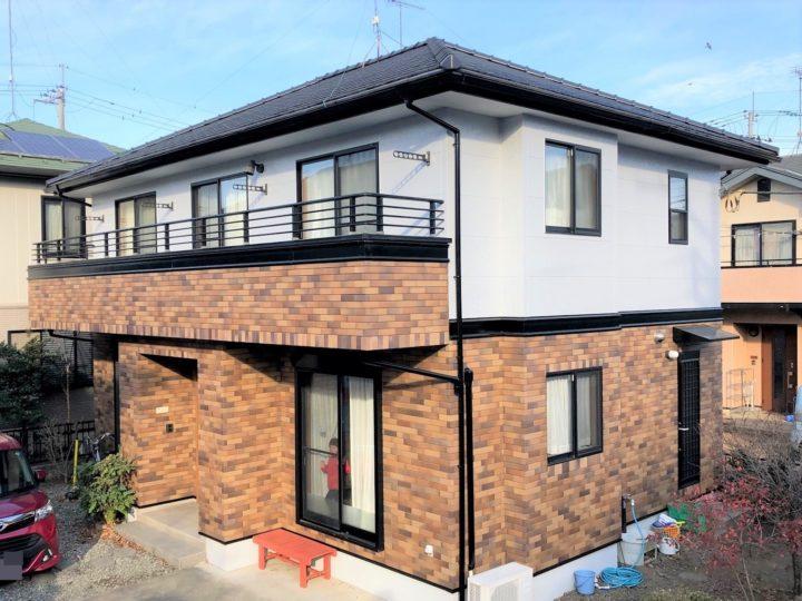 栃木県下野市 I様邸 屋根瓦漆喰工事・外壁塗装工事