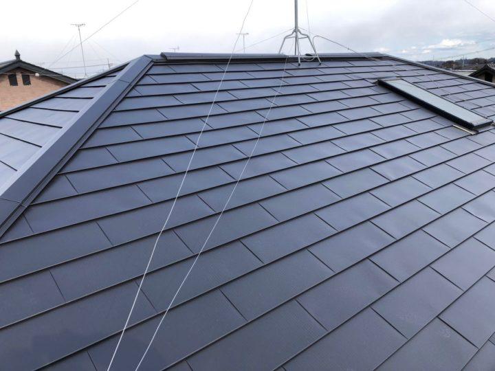 栃木県宇都宮市 H様邸 スレート屋根をガルバリウム鋼板「ヒランビー」へ屋根カバーリフォーム