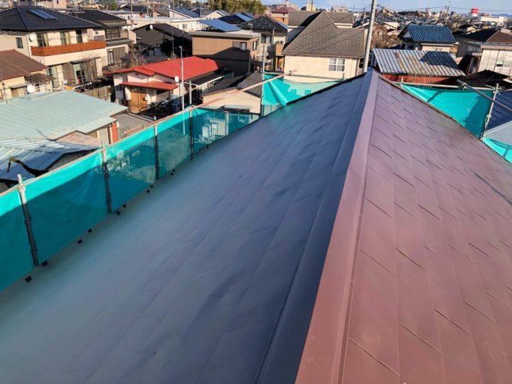 栃木県宇都宮市 K様邸 金属平葺屋根から『スーパーヒランビー 極み-MAX』へ屋根カバーしました!!