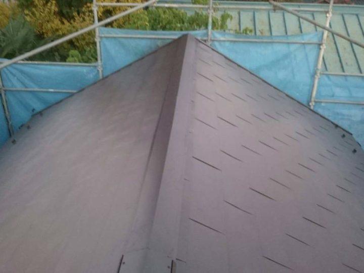栃木県宇都宮市 U様邸 スレート屋根から『ガルバリウム鋼板ヒランビー』へ屋根カバーしました